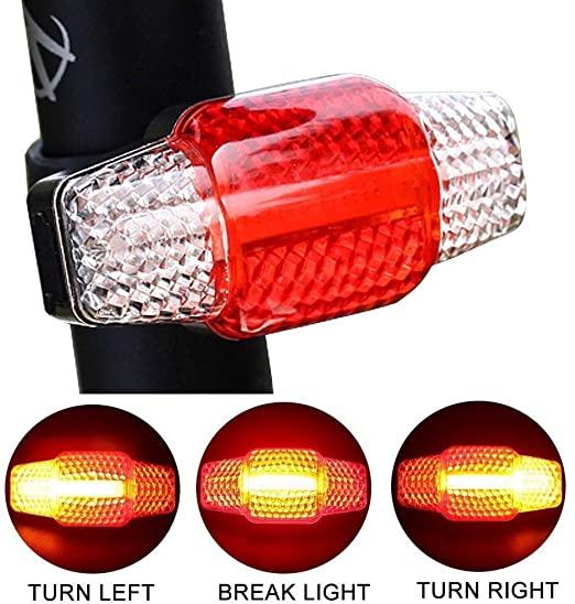 AsDlg Fanale posteriore per bicicletta, Luce per bici USB Fanale