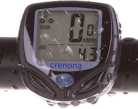 Crenova® Ciclocomputer Wireless Multifunzione Impermeabile LCD con