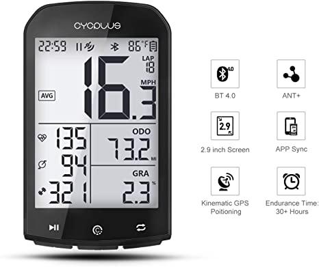 CYCPLUS Tachimetro e contachilometri per Bici da Bicicletta GPS