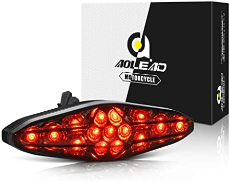 Fanale posteriore,Aolead 15 LEDs Luce Posteriore Bici Universale