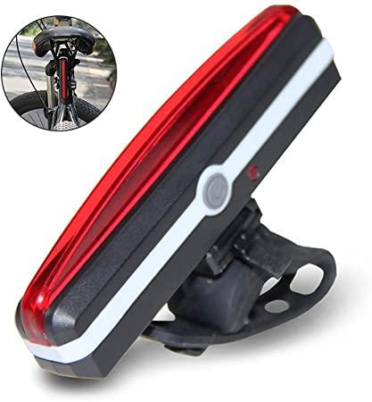 LayOPO USB ricaricabile luce per bicicletta, impermeabile, luce