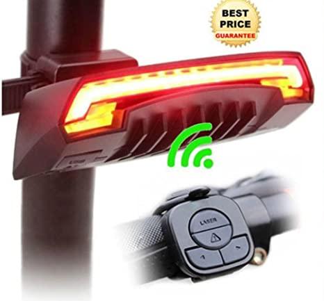 Luce posteriore a LED per bicicletta, con telecomando wireless e