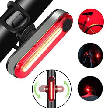 Luce Posteriore per Bicicletta, Ricaricabile USB per Bicicletta a