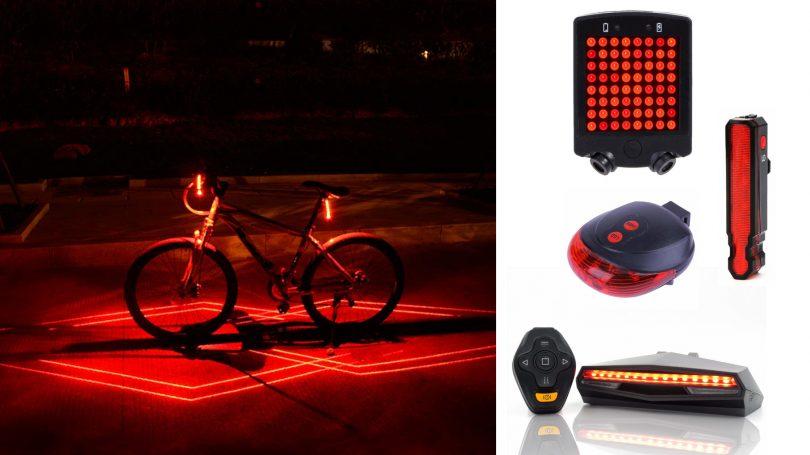 Migliori fari led da bicicletta che proiettano laser a terra