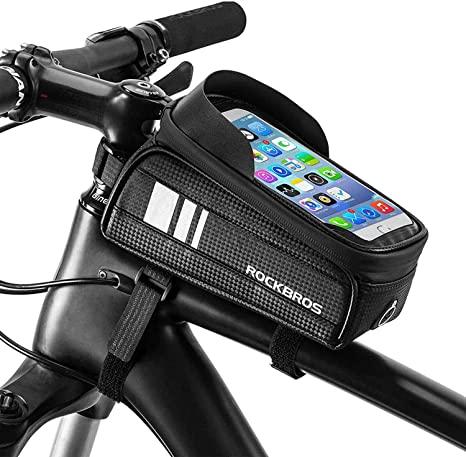 ROCKBROS Borsa Telaio Bici Impermeabile Porta Cellulare per 6.5
