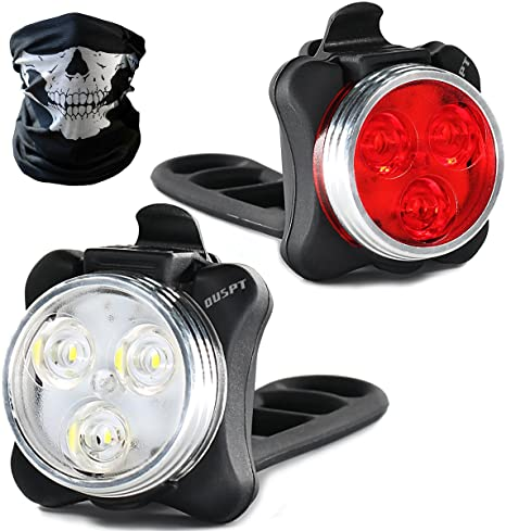 Set di luci per bicicletta LED ricaricabili, luci LED per bici USB