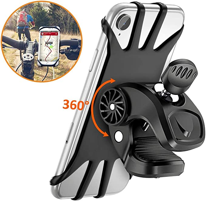 Vobon Supporto Bici Smartphone, Porta Cellulare Bici 360° Rotabile